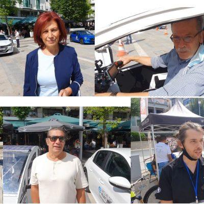 kozan.gr: Η βόλτα του Δημάρχου Κοζάνης με το ηλεκτρικό αυτοκίνητο που κατασκεύασε ο συμπολίτης μας, από την Κοζάνη, Δημήτρης Γκλούμπος, ο χαιρετισμός του Υφυπουργού Μεταφορών & Υποδομών Μ. Παπαδόπουλου, η εμπειρία της Π. Βρυζίδου με το δικό της ηλεκτρικό αυτοκίνητο, δηλώσεις εκθετών και διοργανωτών στη δράση αφιερωμένη στην ηλεκτροκίνηση, που πραγματοποίησε το πρωί με μεσημέρι του Σαββάτου 18/9 ο Δήμος & το ΕΒΕ Κοζάνης  (Bίντεο 16′ & Φωτογραφίες)