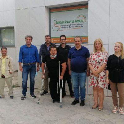 Συνάντηση της Διοίκησης του ΤΕΕ/ΤΔΜ με τον Σύλλογο Ατόμων με Αναπηρία