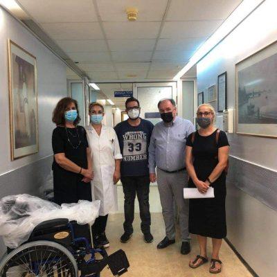 Η Διοίκηση του Γενικού Νοσοκομείου Πτολεμαΐδας «ΜΠΟΔΟΣΑΚΕΙΟ» ευχαριστεί τα τέκνα της οικογένειας Αθανασίου Δεληγιώργη, Στεργιαννή, Ευτέρπη και Θεοδώρα, για την προσφορά 3 αναπηρικών αμαξιδίων