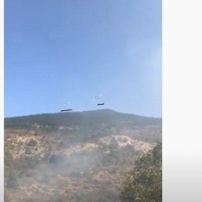 kozan.gr: Νέο βίντεο από τη φωτιά σε χορτολιβαδική έκταση στο Μεσόβουνο Εορδαίας με τα δύο canadair, το ένα  ακριβώς πίσω από το άλλο, με διαφορά ελαχίστων δευτερολέπτων, να κάνουν ρίψεις νερού (Βίντεο)