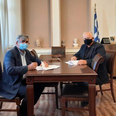 Υπογραφή σύμβασης για το έργο: «Εργασίες ασφαλτόστρωσης αύλειου χώρου στο 3ο ΓΕΛ Πτολεμαΐδας»