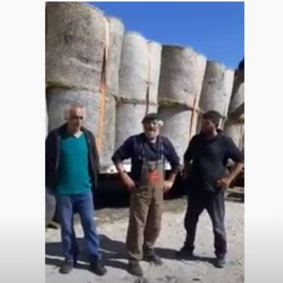 """kozan.gr: 44 μπάλες άχυρο πρόσφερε, για τους πυρόπληκτους κτηνοτρόφους της Εύβοιας, ο Πρόεδρος της Κοινότητας Μεσιανής Κωνσταντίνος Κωνσταντινίδης –  Συνεχίζεται η αξιόλογη πρωτοβουλία του Γεωργοκτηνοτροφικού Συλλόγου Κοζάνης """"O Βούρινος"""" (Βίντεο)"""