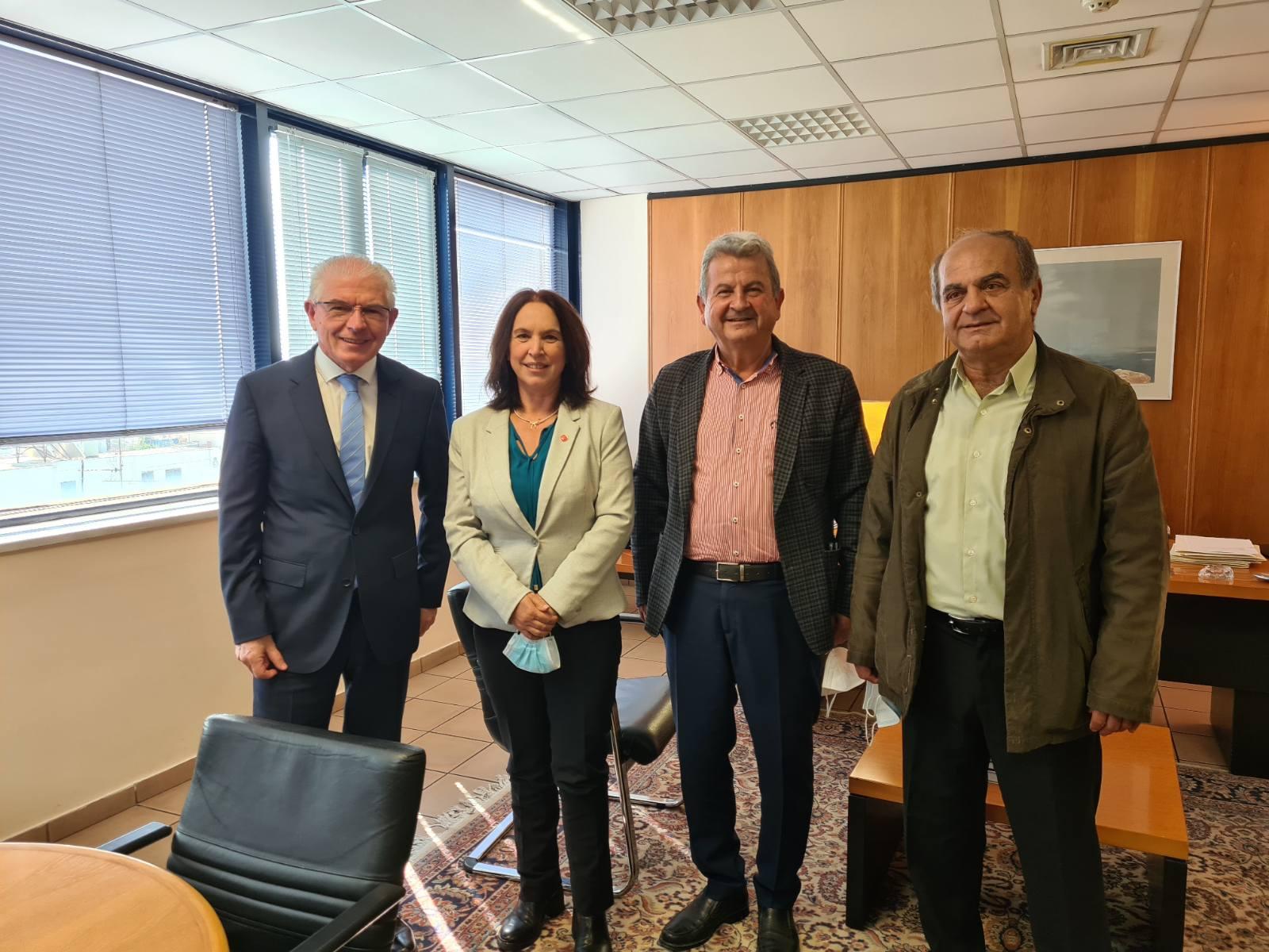 Καλλιόπη Βέττα: Συνάντηση με τον Πρόεδρο του ΕΛ.Γ.Α. για θέματα τωναγροτικών αποζημιώσεων της Π.Ε. Κοζάνης